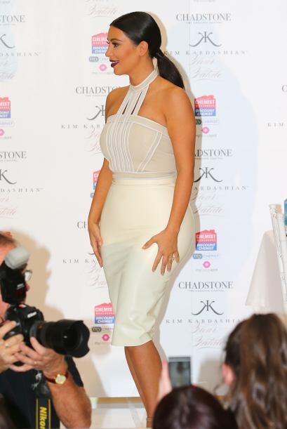 Al parecer la Kardashian está encantada con la gastronomía de Australia.