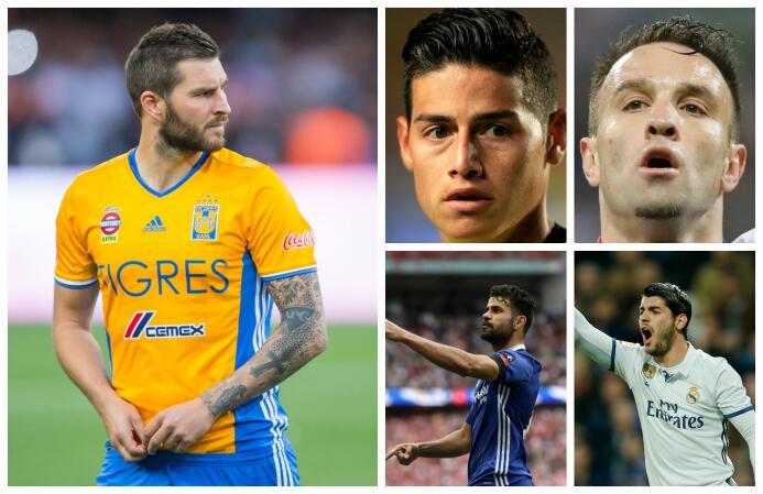 Gignac, James, Costa, Morata y otros cracks que suenan en los rumores de...
