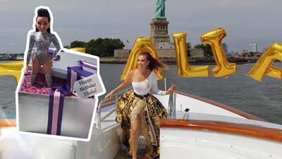 Thalía presume el espectacular pastel de cumpleaños con el que la celebró Tommy Mottola
