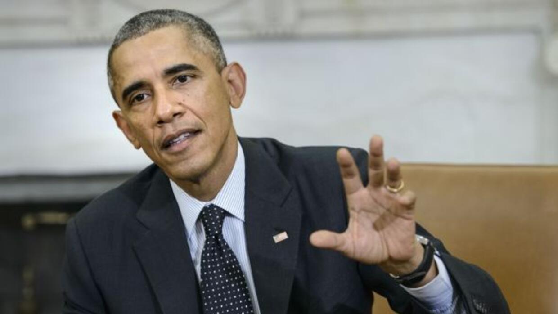 """El presidente Obama aseguró sentirse """"cautelosamente optimista"""" ante las..."""