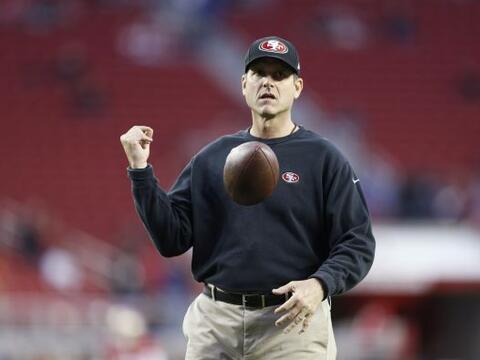 1. Jim Harbaugh, 49ers, entrenador en jefe (AP-NFL).