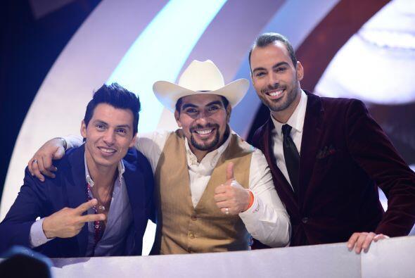 Mario Pacheco, Enrique Tello y Arias Martín, del equipo de El Dasa.