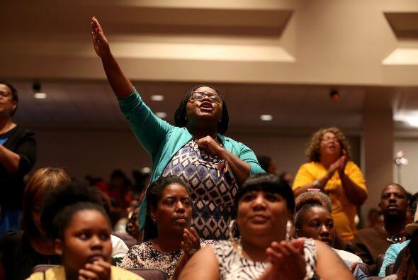 El evento fue dirigido por el reverendo Al Sharpton en apoyo de la justi...