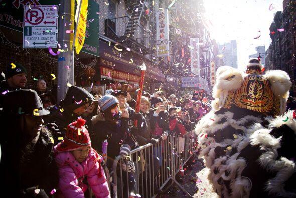 Los espectadores llenaron las calles del corazón de Manhattan.
