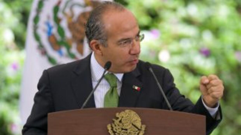 El presidente mexicano Felipe Calderón afirmó que su estrategia en contr...