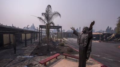 En fotos: Los rastros que dejan los incendios en California