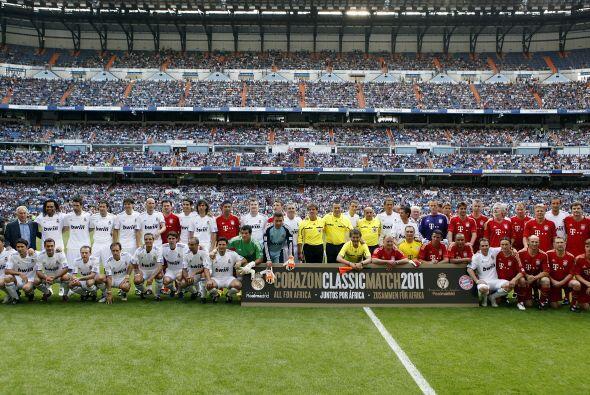 Real Madrid y Bayern Munich jugaron un partido amistoso digno del recuer...