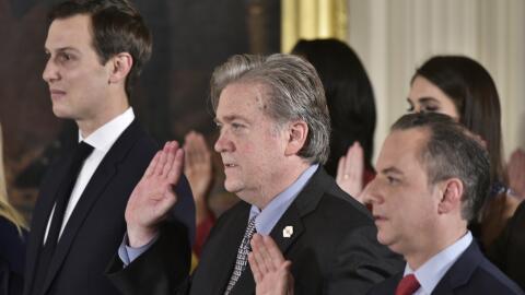 El consejero y yerno del presidente Jared Kushner; el ex jefe estratega...