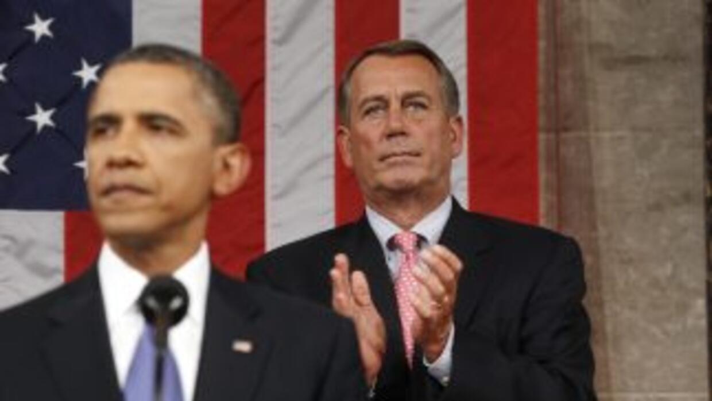 El presidente Barack Obama junto al presidente del Congreso (Speaker of...