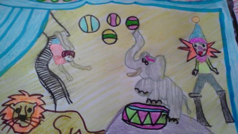 Dibujo enviado por Gustavo Garcia Jr. de Dallas. Él tiene 7 años de edad
