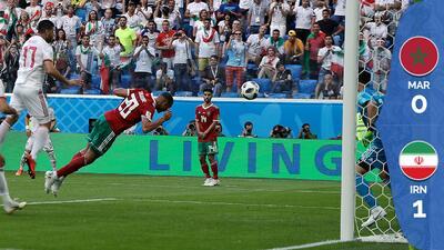 Primer autogol del Mundial le da victoria a Irán ante Marruecos