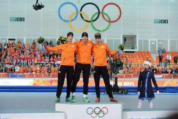 Éste es el segundo 'triplete' olímpico de Holanda en patinaje de velocid...