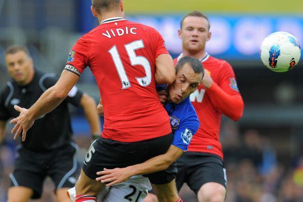 Fue un juego trabado, por momentos, bien resuelto por el 'United'.
