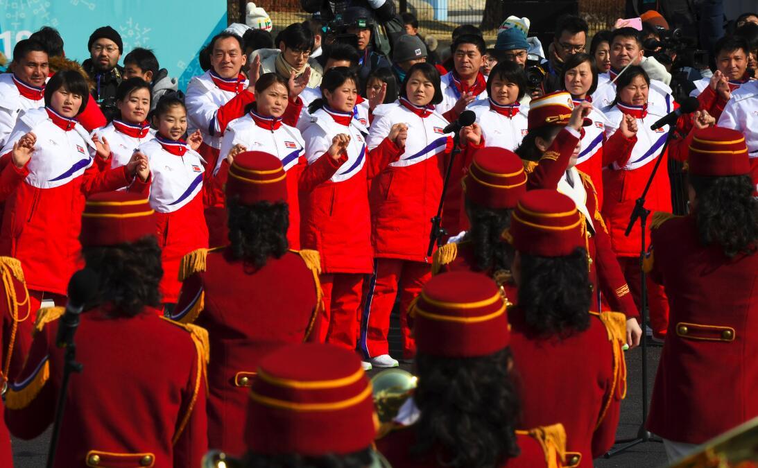 Llegada de Corea del Norte a Pyeongchang 2018 gettyimages-915603688.jpg
