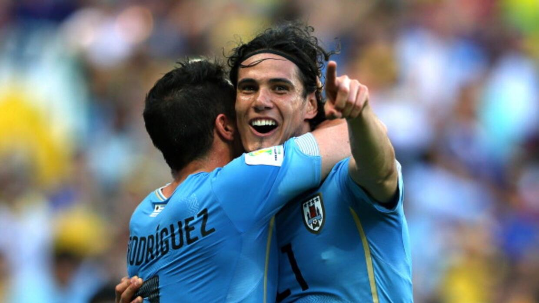 'Cebolla' Rodríguez anotó el gol del triunfo charrúa