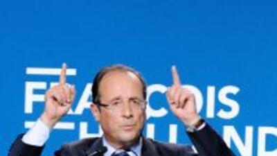 Francois Hollande, candidato socialista a la elección presidencial.