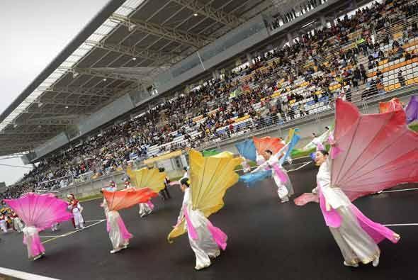 Corea del Sur mostró lo mejor de su arte antes de su primer Gran Premio...