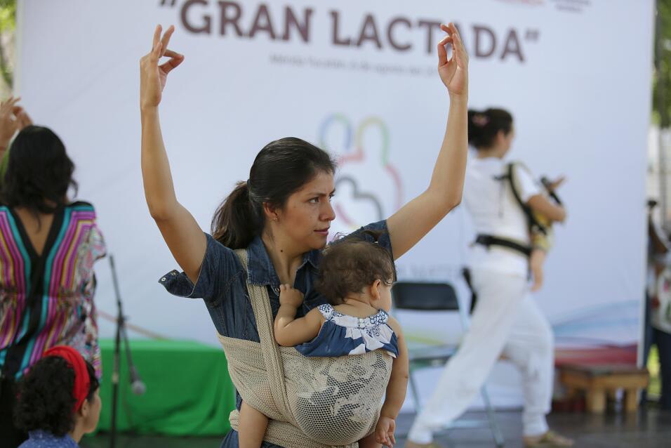 En México hubo diversas actividades para apoyar la lactancia.