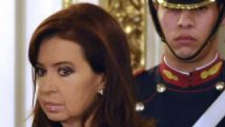 La presidenta argentina Cristina Fernández.