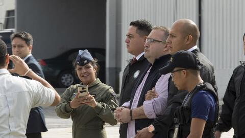 Javier Duarte durante su extradición a México.