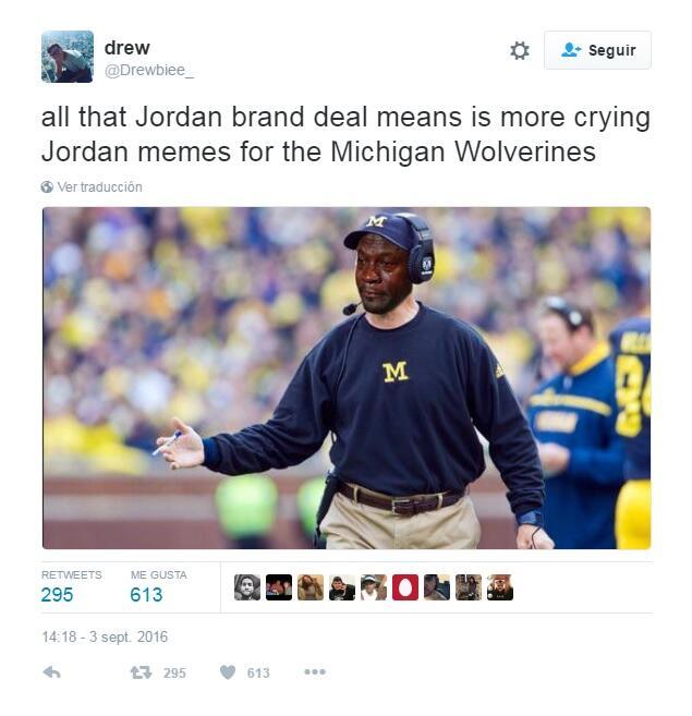 """Otro meme indicaba que """"todo sobre la marca de Jordan significa más..."""