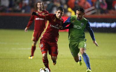 Jefferson Savarino, Cristian Roldan Real Salt Lake vs. Seattle Sounders