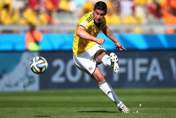 Por su puesto James Rodríguez era el motor para Colombia.