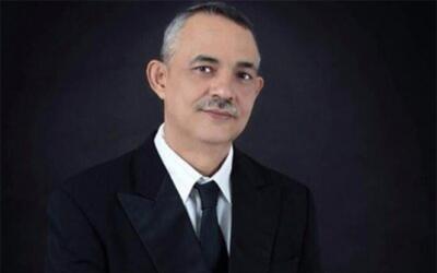Juan Carlos Andrade Magaña durante un acto de campaña en J...