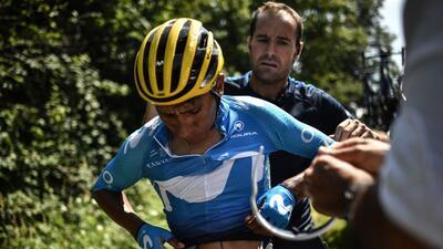 La dura caída de Nairo Quintana, entre las postales de la jornada del Tour de Francia