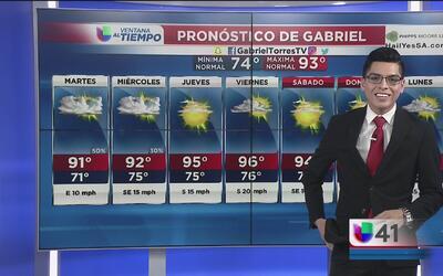 Lluvias aisladas se presentan en San Antonio