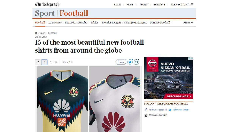 El diario The Telegraph destacó las dos playeras del 12 veces cam...