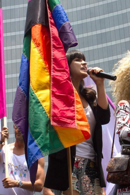 Maite Perroni marcha gay Ciudad de México 2017.