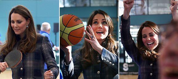 Kate Middleton estuvo de visita en Escocia con el prícinpe William.