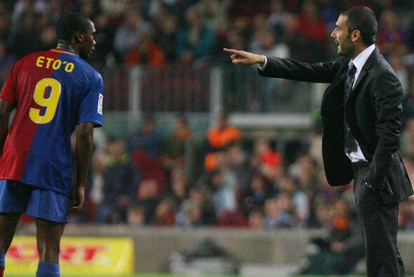 Guardiola Vs. Eto'o. Pep Guardiola no es monedita de oro y también con e...