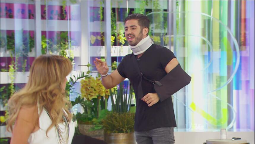 Tantas fueron las prueba que Borja se lesionó.