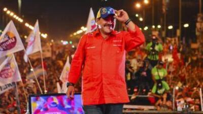 Nicolás Maduro en su cierre de campaña.