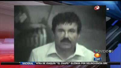 El Chapo es acusado formalmente de crimen organizado