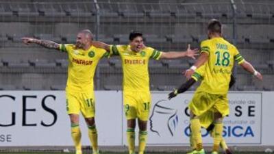 Alejandro Bedoya marc'o en Copa para Nantes