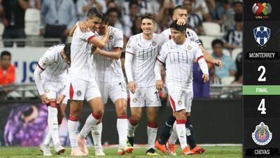 Chivas reencuentra el triunfo tras vencer a Rayados en partido de alarido