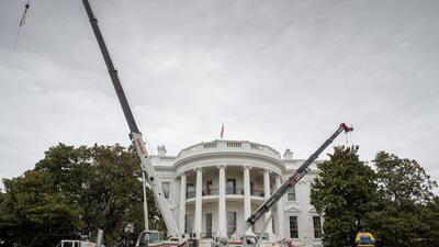 En fotos: La oficina de Donald Trump 'cerrada' por remodelaciones