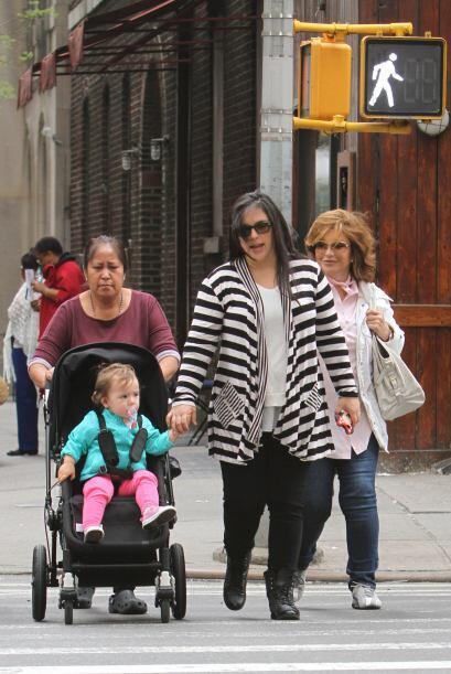Al parecer la actriz tuvo un embarazo más relajado con su pequeña Angéli...