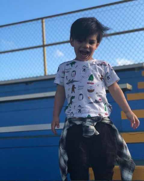 Matteo, hijo de Alejandra Espinoza