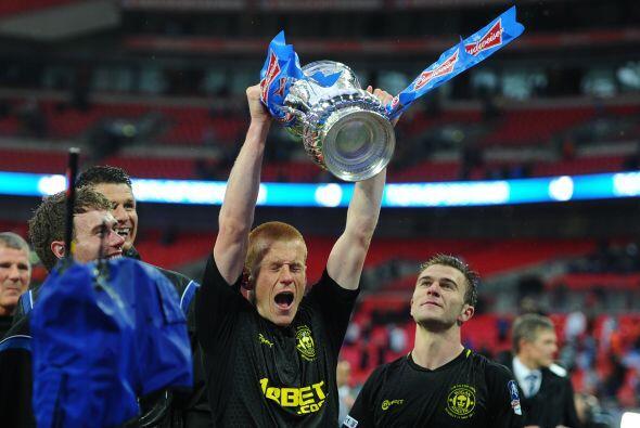 Watson fue el héroe del Wigan al marcar el único gol con el que superaro...