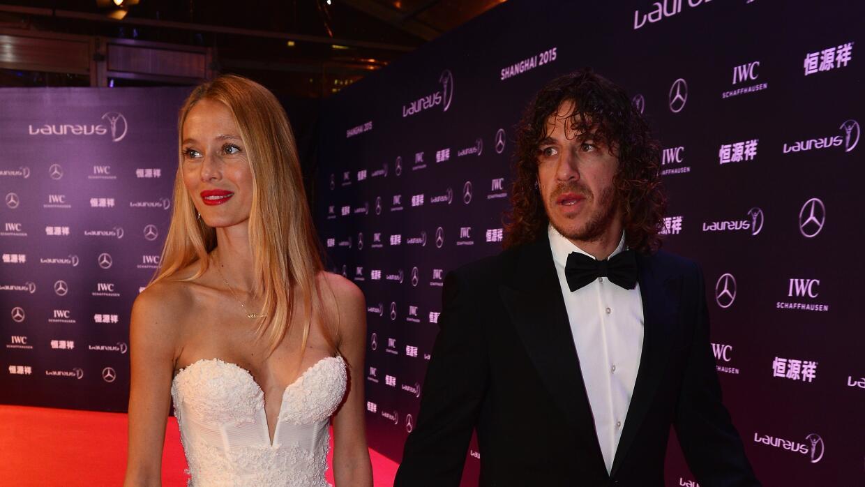 Carles Puyol y su esposa Vanesa Lorenzo