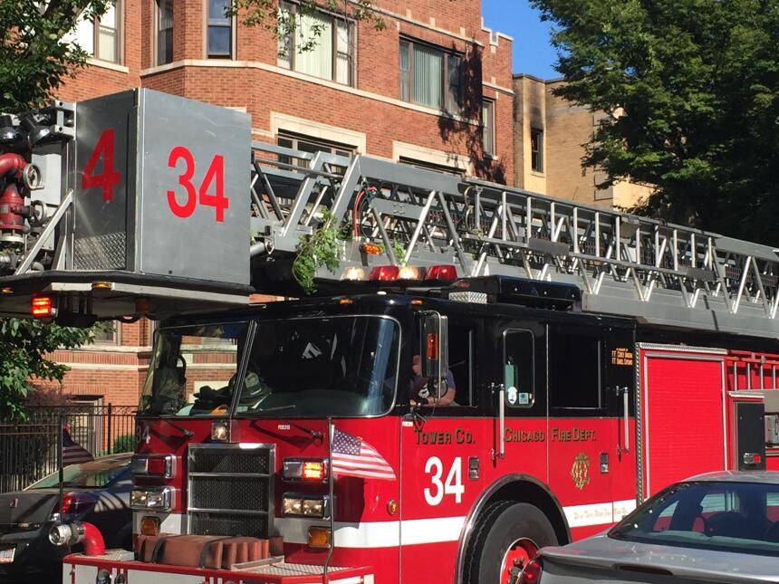 Voraz incendio en South Chicago