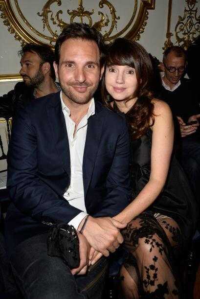 Christophe Michalak and Delphine McCarty estuvieron felices de estar pre...