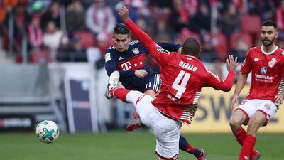 Al Bayern le bastaron dos golazos para doblegar al Mainz