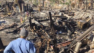 En fotos: Los rastros de la devastación que dejan los incendios en el sur de California