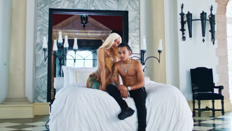 Rapper Cardi B and Ozuna appear together in their music video for 'La Mo...