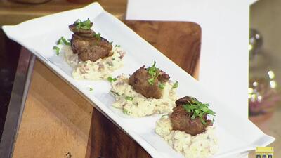 La receta: pimentones rellenos de ensalada de viandas y cerdo